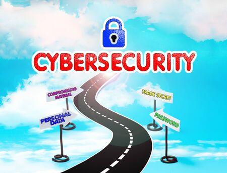 現代世界のサイバー セキュリティのシンボル 写真素材