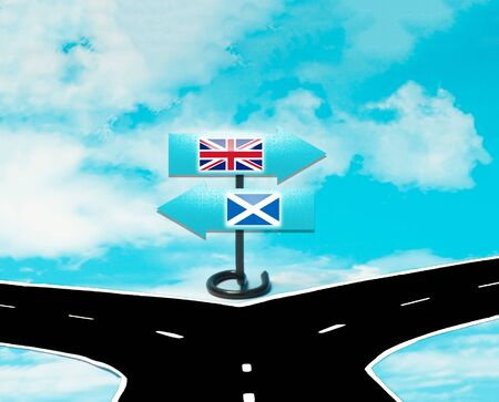 Scottish independence from Britain in concept Stock Photo