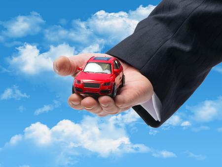 Car sales symbol on the sky