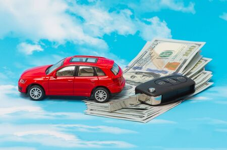 Buying and car insurance as a concept Stock Photo