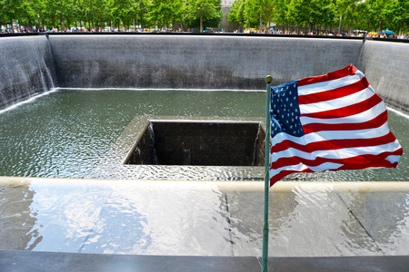 Memorial to the victims of September 11 Archivio Fotografico