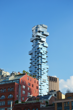 Tower tribeca against the backdrop of new york 免版税图像