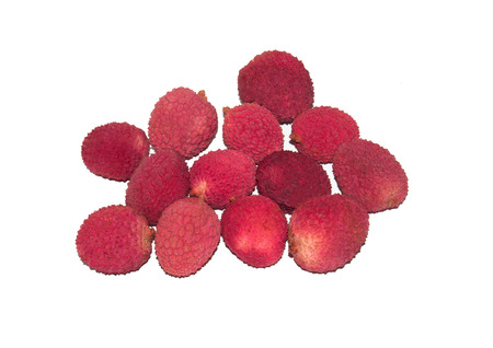 View of exotic fruit litchi Stock Photo