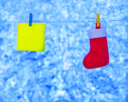 Stuff for Christmas on a blue background