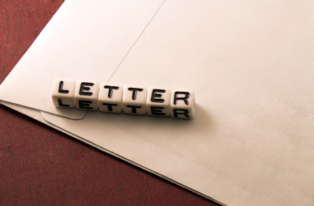 Word letter against the background of letters