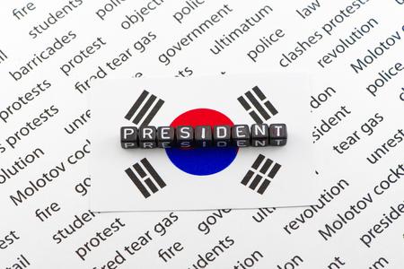 Demanding the resignation of the President of South Korea 写真素材