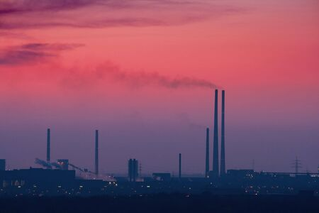 steelworks: Industrial Skyline after Sunset