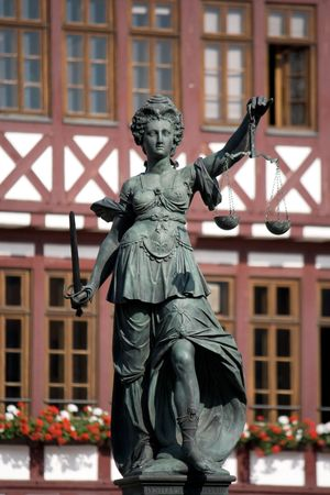 blind justice: Statue of Lady Justice