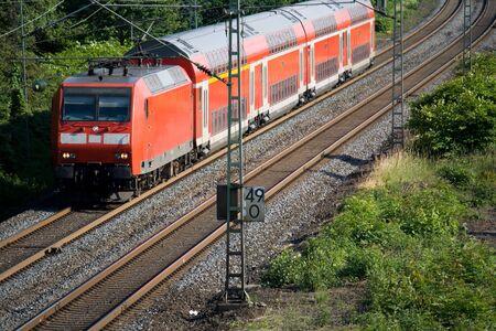 doubledecker: Double-decker German Train Stock Photo