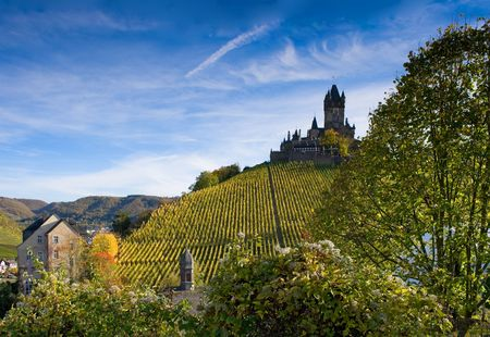 moseltal: The castle in Cochem, Germany (Rhineland-Palatinate)