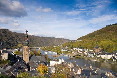moseltal: Panorama of Cochem, Rhineland-Palatinate, Germany Stock Photo