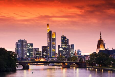 Frankfurts Skyline after Sunset