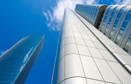 Skyscrapers in downtown Frankfurt, Germany photo