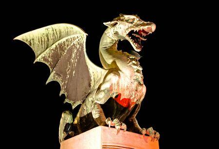 otherworldly: Dragon- symbol of the Slovenian capital Ljubljana