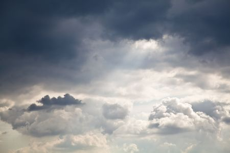 noiseless: High resolution image of cloudy sky. Great detail, noiseless. Stock Photo