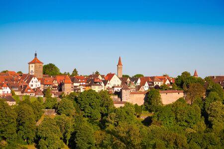 architectural tradition: Panorama of Rothenburg ob der Tauber, Bavaria.