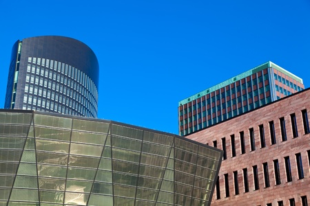 rhine westphalia: Modern architecture in downtown Dortmund, Germany. Stock Photo