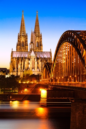 Cologne Cathedral in the evening