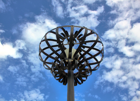 lamp post: lamp post against sky Stock Photo