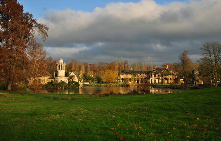 A view of Hameau de la Reine (The Queens Hamlet) in the village of Versailles.