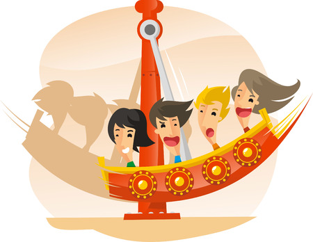 teenagers only: Pirate Ship Speed Amusement Park Ride