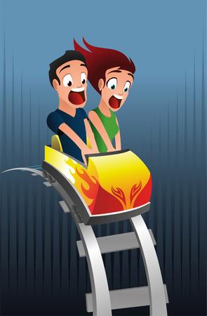 Scary roller-coaster rollercoaster amusement park