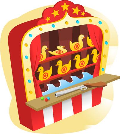 カーニバル撮影ゲーム  イラスト・ベクター素材