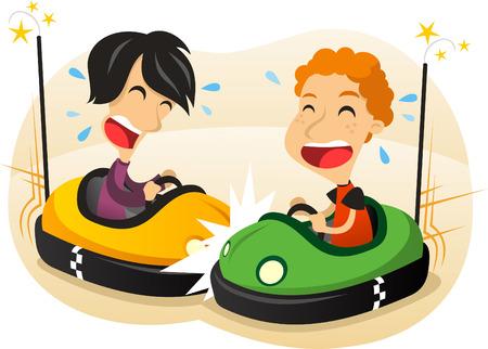 Bumper auto leuke cartoon illustratie