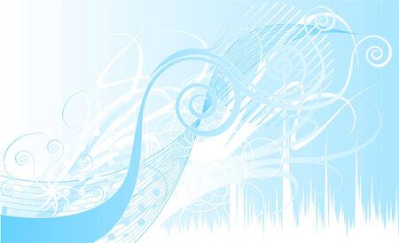 Abstracte rustige scène Lichtblauw Curves Stockfoto - 33680313