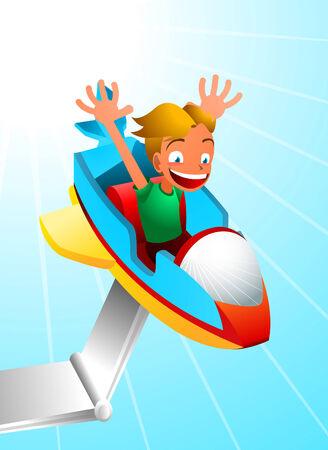 Amusement Park Spaceship Ride