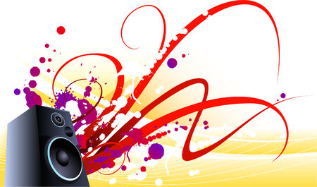 interconnect: hard sound waves vector background Illustration