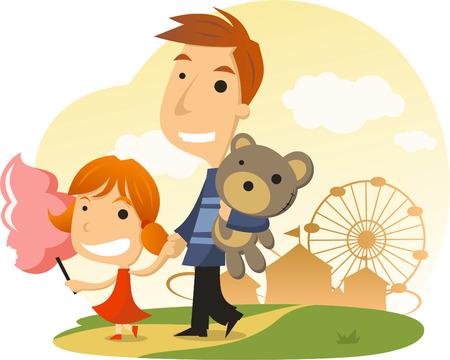 Cotton candy Amusement Park Family Day