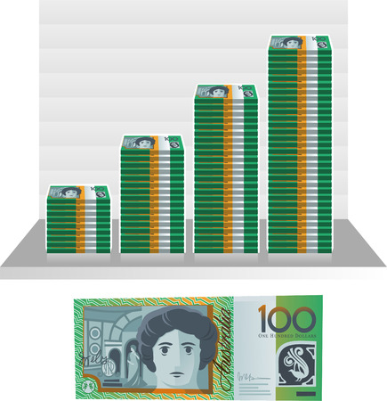 australian money: australian dollar bill graph