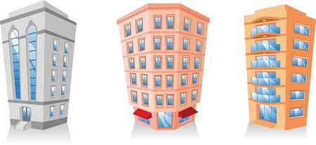 penthouse: cartoon Apartment Building collection.