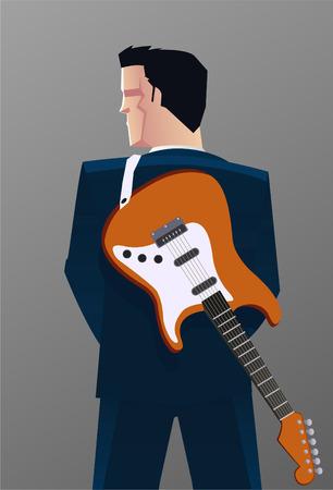 Rocking Guitarist back