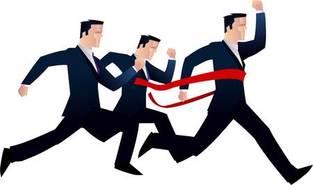 Businessmen competing race vector illustration.