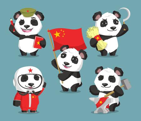 Communist chinese panda cartoons