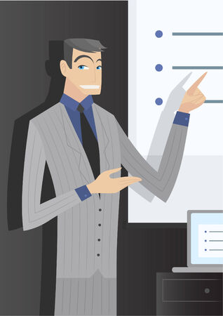 Executive businessman making a presentation. Stock fotó - 33741782