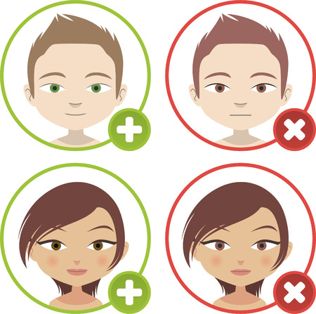 Head and Shoulder add People Avatar Profile vector illustration. Vector