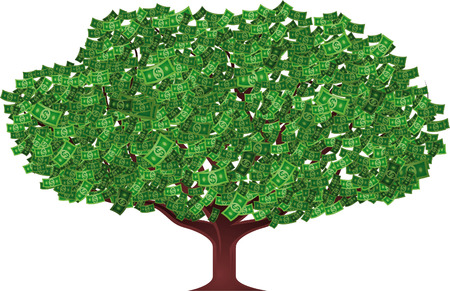 money tree vector illustration