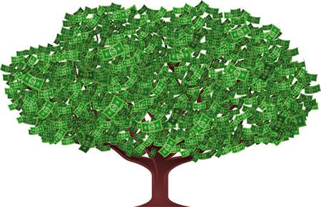 new opportunity: money tree vector illustration