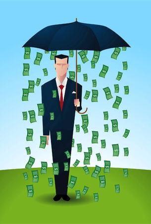 making money: Ironic methaphor of the phrase making money.