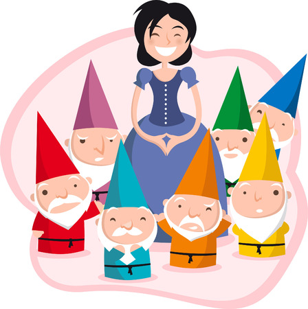 fairy princess: snow white and teh seven dwarves.