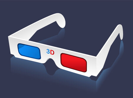 eyewear: 3D glasses eye-wear vector illustration.