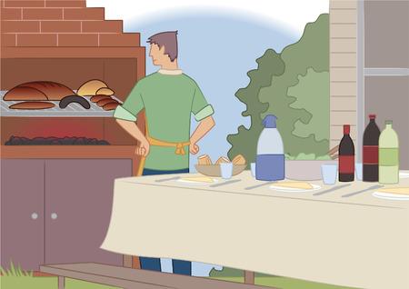 アサードは南アメリカの社会的な練習と、肉のカットを調理するための技術通常様々 な他肉をグリルで調理されてまたは火災を開くと一緒に牛肉か