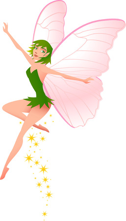 period costume: Little Fairy flying.