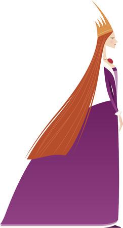 Queen profile portrait illustration Vector