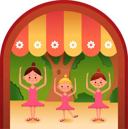 School play, three girls ballet.