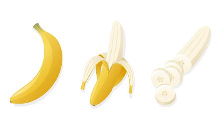 banana peel: banana cartoon illustration cuts