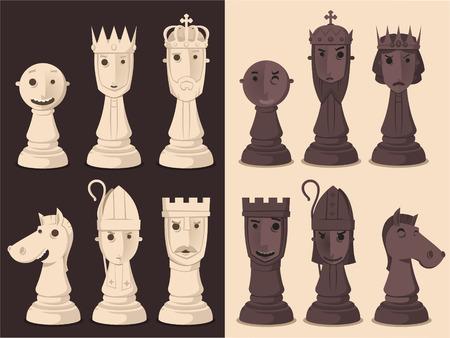 체스 보드 게임 전략, 벡터 일러스트 레이 션 만화.